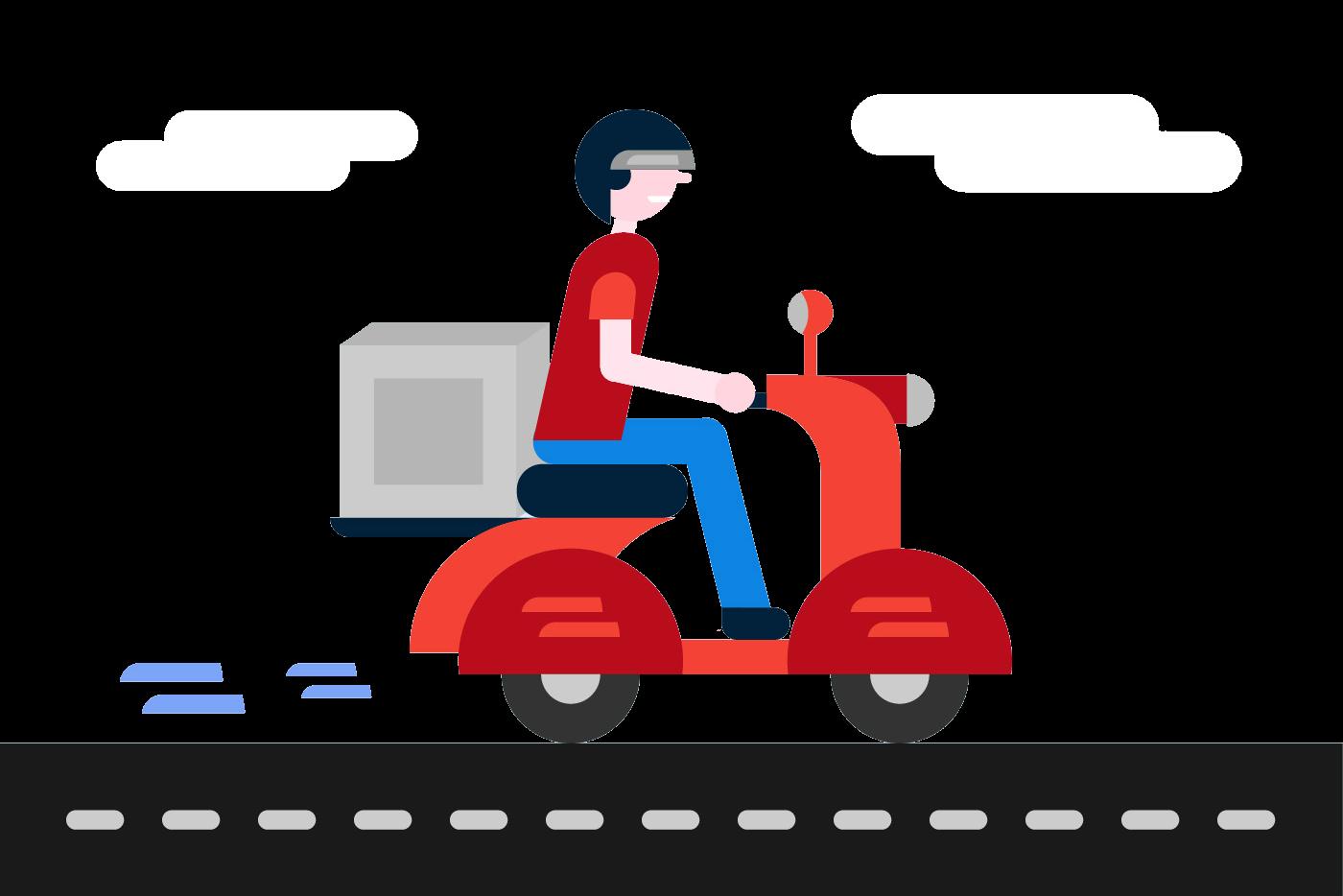Free Delivery Boy Vector-01
