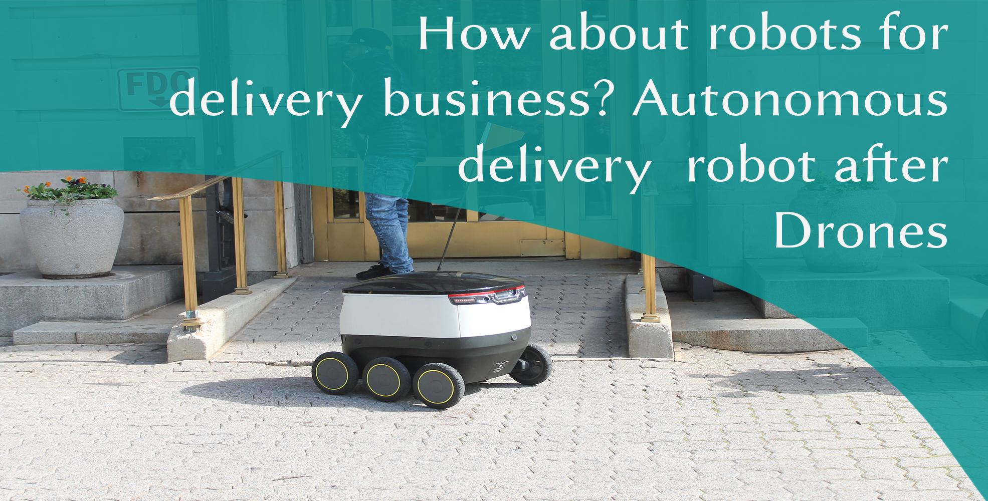 Autonomous delivery robot, Autonomous delivery robot is making delivery at door step, LogixGRID | Platform and Application for logistics management