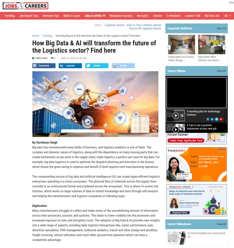 Future of Logistics Sector